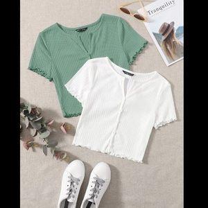 Shein// crop top bundle size M